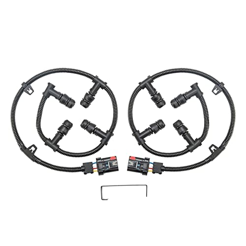 Ford 6.0 Glow Plug Connector Wire Harness Kit (Left & Right) with Removal Tool