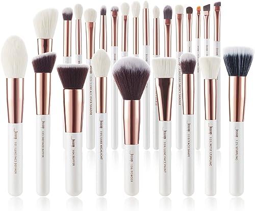 Jessup Brand 25pcs Professional Makeup Brush set Beauty Cosmetic Foundation Power Blushes eyelashes Lipstick Natural-...
