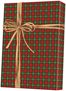 Holiday Tartan Plaid Christmas Gift Wrap Wrapping Paper - 15 Foot Roll