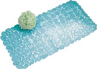 mDesign Alfombrilla de baño blanda con ventosas – Alfombra antideslizante para bañera de PVC robusto y resistente – Alfomb...