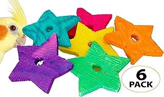 1151 PK6 Wood Stars Bonka Bird Toys Parrot Foot Craft Talon Cage Part Toy