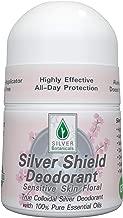 Silver Shield Deodorant - Sensitive Skin Formula - Floral Scent | All Natural Colloidal Silver Deodorant (Roll-on, 2 oz.)