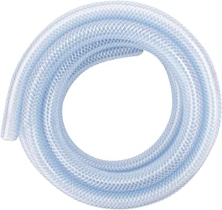LDR Industries 516 B1210 Clear Braided Nylon Poly Tubing Flexible Non-Toxic, 1/2 Diameter x 10ft, Finish, 10'