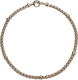"17"" Braid Chain Collar Necklace"