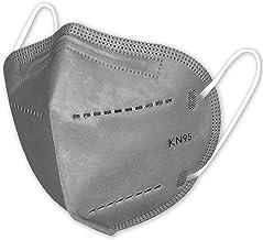 Máscaras KN95 Cinza Lisa - Kit de 10, 20, 30, 40, 50, 100 Unidades - FPP2 PFF2 - Filtragem > 95% - Embaladas de 10 em 10 -...