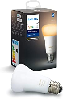 Philips Hue Standaard Lamp 1-Pack - E27 - Duurzame LED Verlichting - Warm tot Koelwit Licht - Dimbaar - Verbind met Blueto...