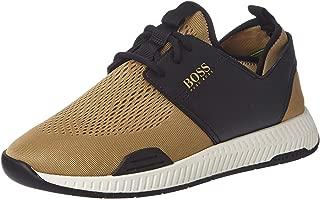 Hugo Boss Green Titanium Sneaker For Men Medium Beige - 40 EU