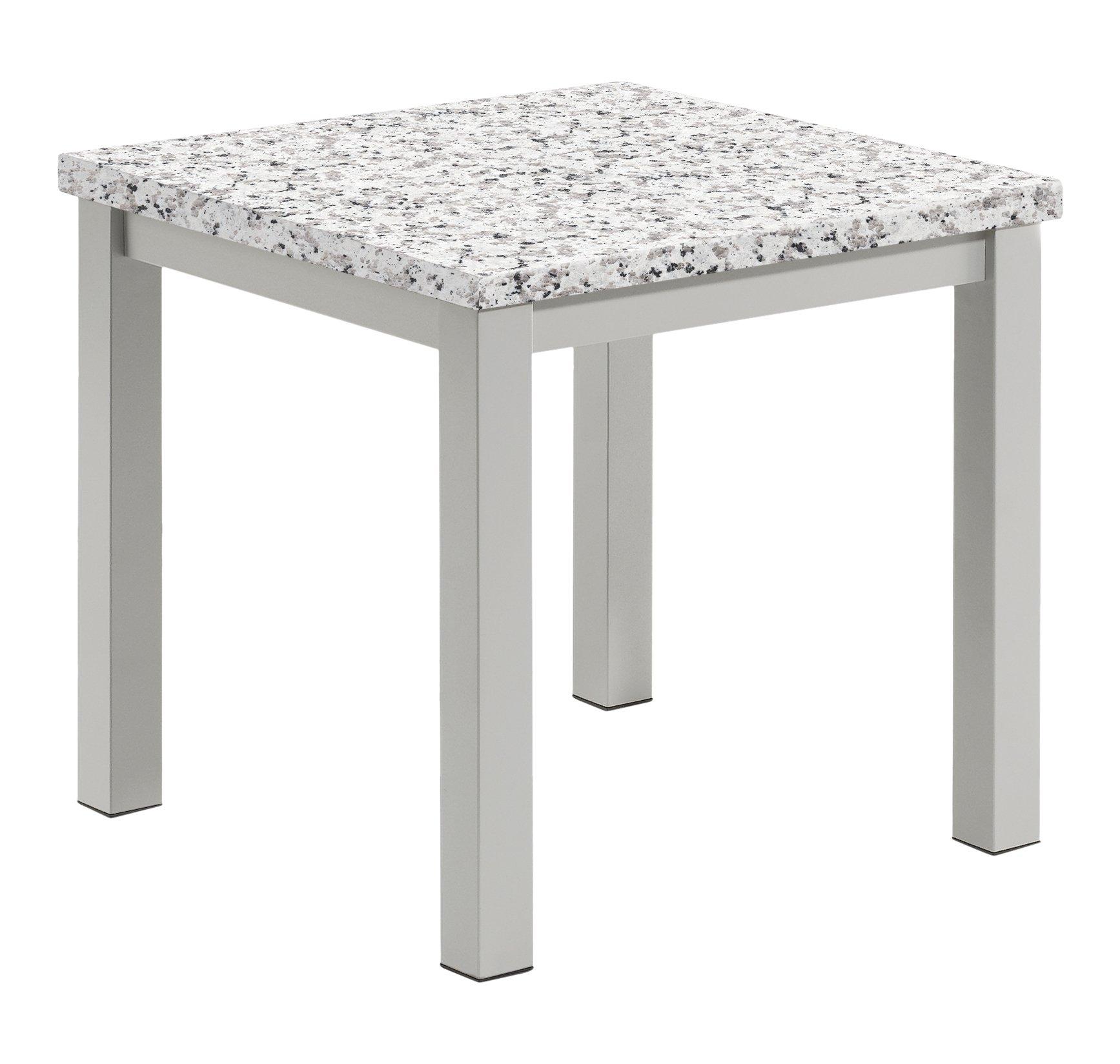 Amazon Com Oxford Garden Tveth Powder Coated Aluminum Frame Lite Core Granite Ash Top Travira End Table Garden Outdoor