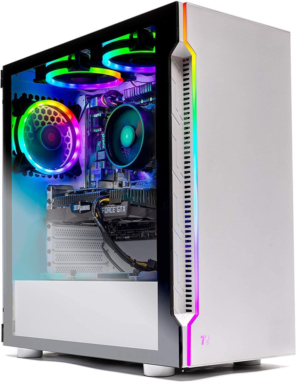 Skytech Archangel Gaming Computer PC Desktop – Ryzen 5 3600 3.6GHz, GTX 1660 Super 6G, 500GB SSD, 16GB DDR4 3000MHz, RGB Fans, Windows 10 Home 64-bit, 802.11AC Wi-Fi (Renewed)