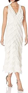 Women's Sleeveless Bias Fringe Dress