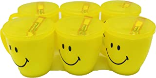 Kids Trends Smiley Mugs with Lid for,Return Gifts for Kids Birthday Party (Pack of 12)