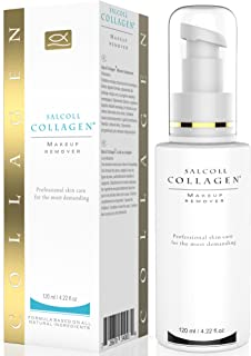Makeup Remover with Collagen and Vitamin F for Eyes, Face and Neck, All Natural 120ml / 4.22oz