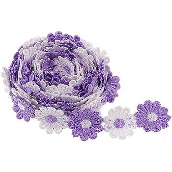 1//2//5//10 yd Vintage White Lace Trim Wedding Bridal Ribbon Applique Sewing Craft