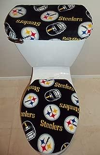 NFL PITTSBURGH STEELERS Fleece Fabric Toilet Seat Cover Set Bathroom Accessories