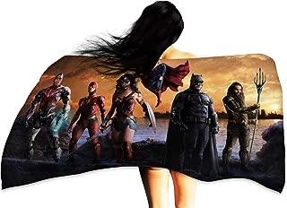 Cowspring Custom Towels for Adults Justice League Wonder Woman Batman Superman Aquaman The Flash Cyborg Multicolor