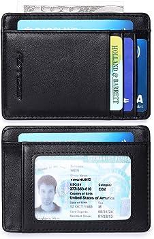 Ferricos Leather Slim Front Pocket RFID Wallet