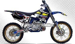 Kungfu Graphics Custom Decal Kit for Yamaha YZ125 YZ250 YZ 125 YZ 250 1996 1997 1998 1999 2000 2001, Black White,style 004