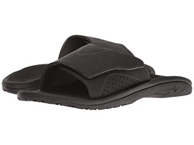 OluKai Nalu Slide (Black/Black) Men