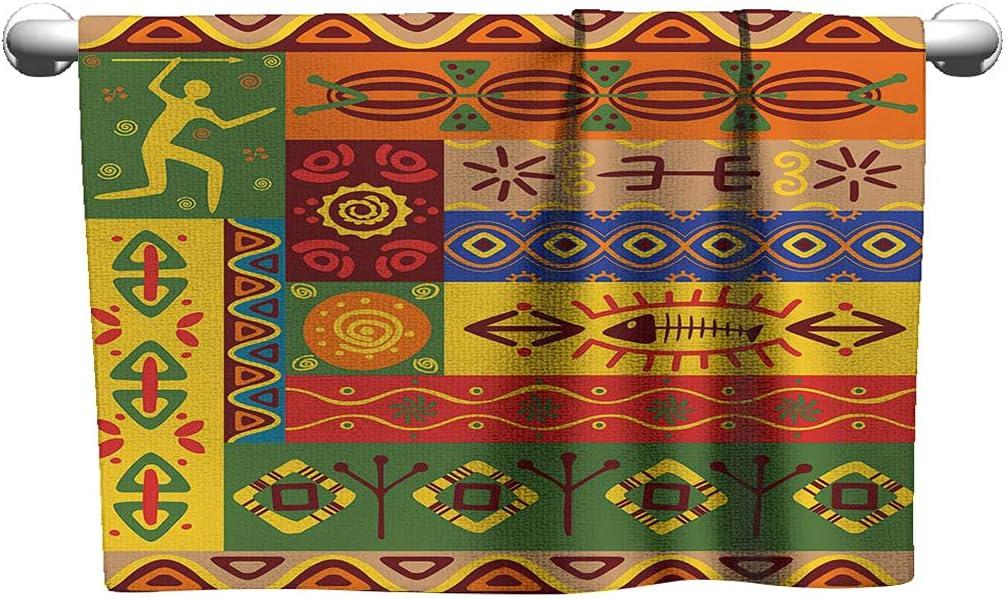 African New Austin Mall York Mall Custom Sports Towel Set Fol Tribal Abstract West