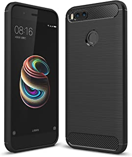 Xiaomi Mi A1 case,MYLB Ultra Slim Lightweight Carbon Fiber Design Flexible Soft TPU Case Highstrength Shockproof Protective Back Cover to Protect the Mobile Phone for Xiaomi Mi A1 (Black)