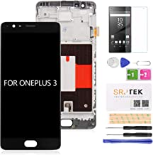 for Oneplus 3 3T LCD Screen Replacement,1+3/3T A3000 A3003 Oneplus Three AMOLED Screen Display Touch Digitizer Glass Frame Assembly, Repair Parts Kit