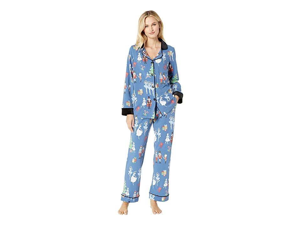 BedHead Long Sleeve Classic Notch Collar Pajama Set (Nutcracker) Women