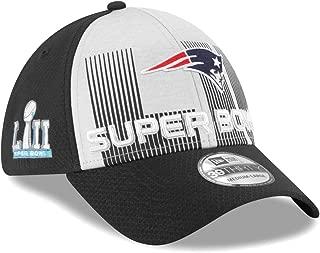 New Era New England Patriots NFL Super Bowl LII 39THIRTY Flex Fit Black Hat