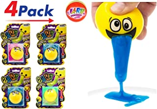 JaRu Barf Slime Emoji Ball (Pack of 4) by Squishy Slime Putty Ball Assorted Colors and Styles   Item #5299-4