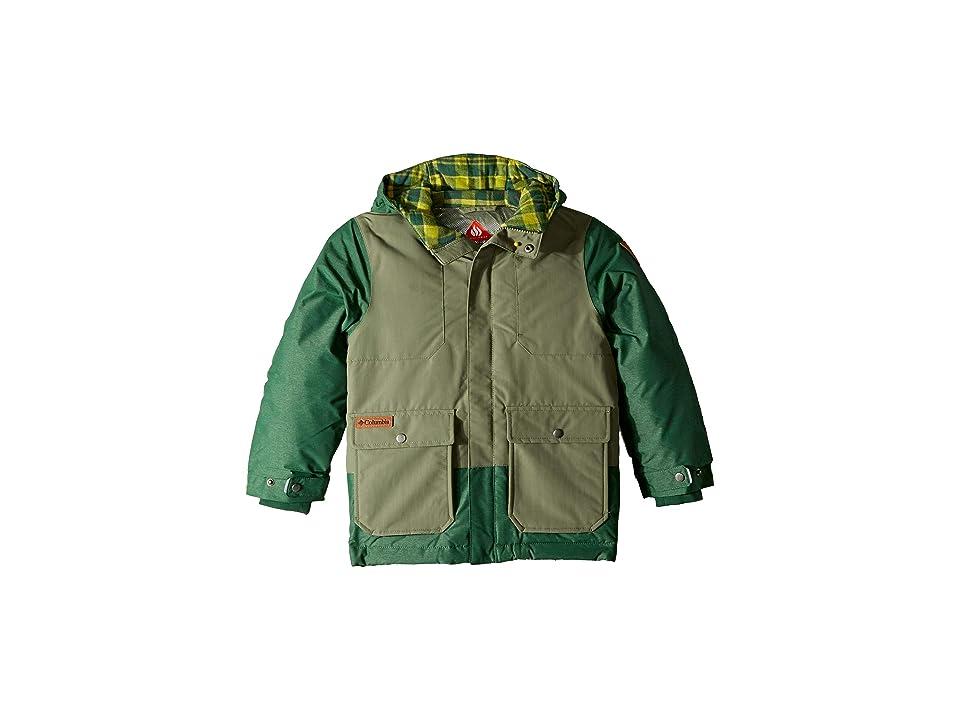 Columbia Kids Lost Brook Jacket (Little Kids/Big Kids) (Cypress/Forest Heather/Python Green Multi Plaid) Boy's Coat