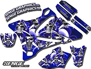 Compatible with Yamaha 2000-2007 TTR 125, Jester Blue Graphics Kit