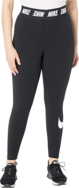 Plus Size Sportswear Leggings Club High-Waist