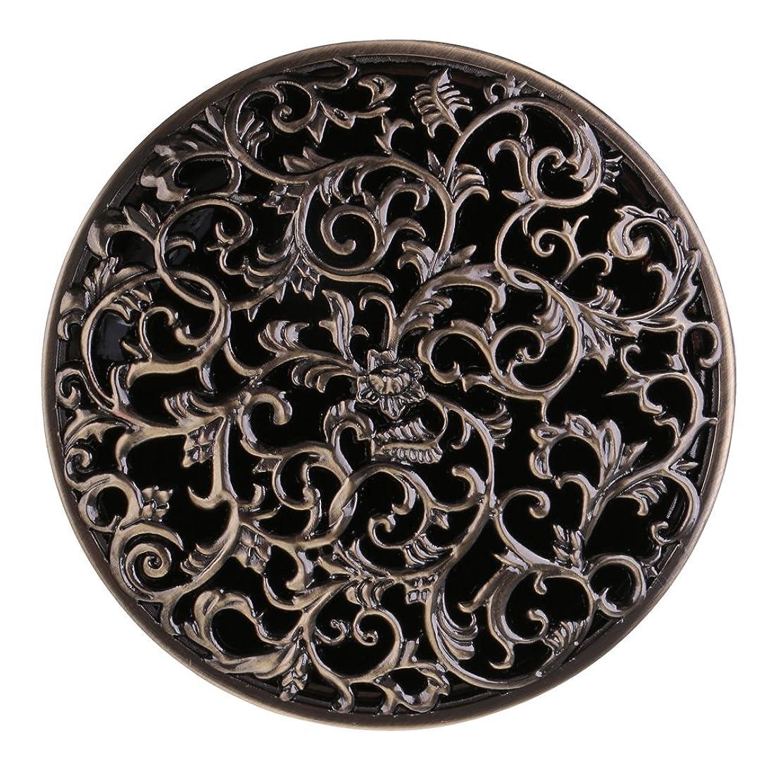 虫を数えるメッシュおばあさんBaoblaze チベット 合金 香炉 コーンホルダー 仏教 香りバーナー ボックス 家 装飾 全3色   - ブロンズ