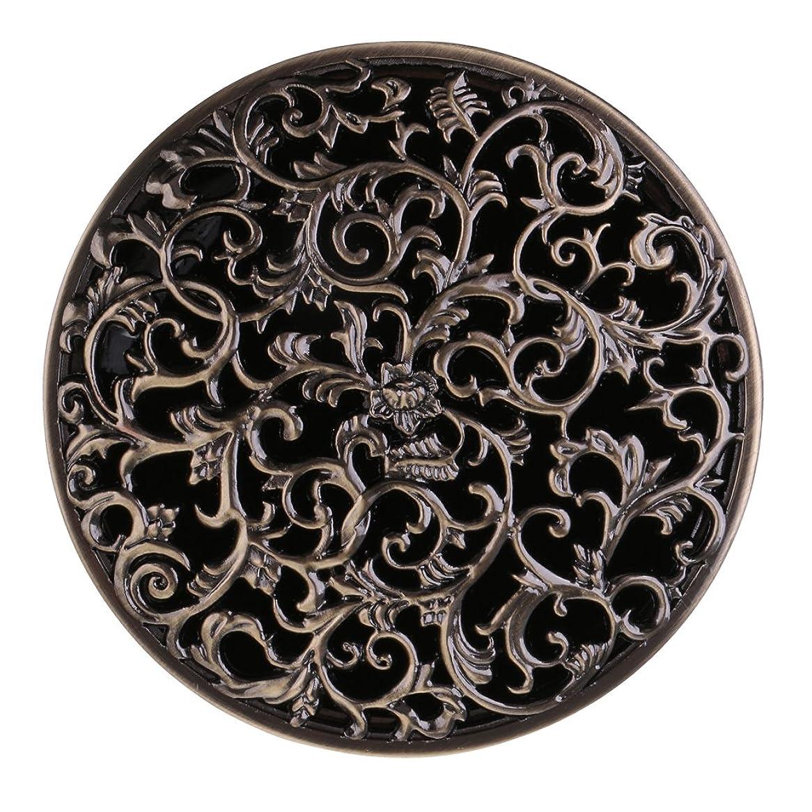 欠伸乳製品集中的なBaoblaze チベット 合金 香炉 コーンホルダー 仏教 香りバーナー ボックス 家 装飾 全3色   - ブロンズ