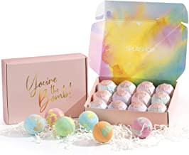 SPLASHOO Bath Bomb Gift Set for Women - 'You're the Bomb' Set of 12 Scented Bath Bombs - Gift for Mom, Girlfriend, Wife, Daughter, Niece or Girls of All Ages