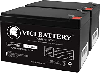 12V 7AH 2 Pack Battery for Planet Mobility Lexis Light Scooter - VICI Battery Brand Product