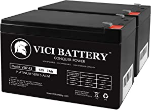 12V 7AH 2 Pack SLA Battery for Agri-Alert 800/800T Alarm System - VICI Battery Brand Product
