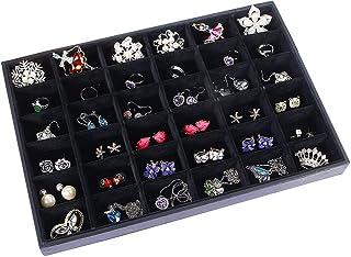 30pcs Plastic Clear Crystal Jewelry Display Storage Boxes Black N8S8