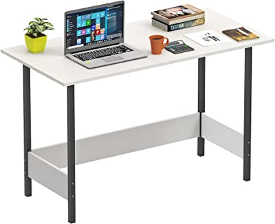Bluewud Gustowe Engineered Wood Study Table Desk for Home & Office (Wenge, Large) (White)