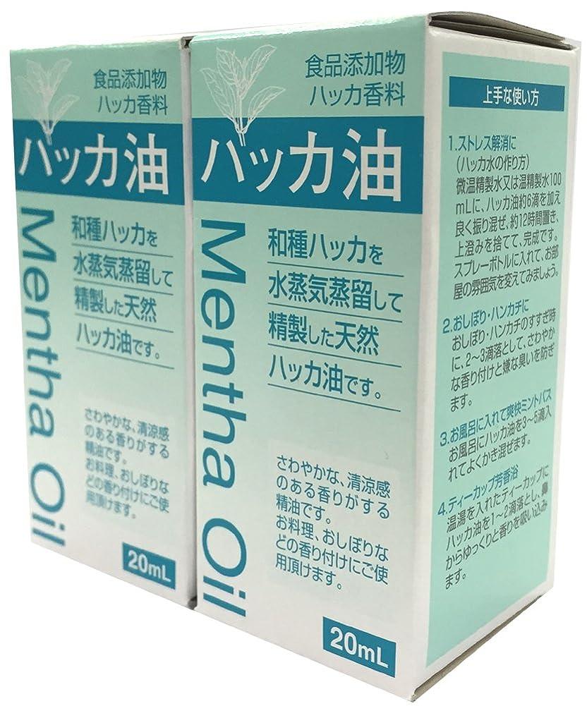 縫い目評議会配分食品添加物 ハッカ油 20mL 2個セット