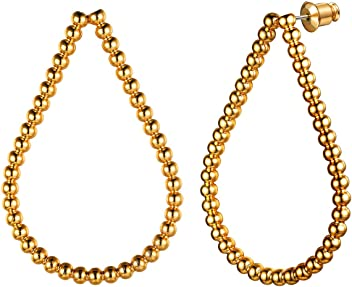 Daesar Women Earrings 925 Sterling Silver Earrings Semicircle Stud Earrings Gold