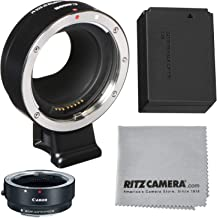 Canon EOS M Mount Adapter for EF/EF-S Lenses +LP-E12 Battery + Lens Cleaning Cloth