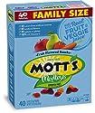 Mott's Fruit Snacks, Assorted Fruit Gluten Free Snacks, Family Size, 40 Pouches, 0.8 oz Each