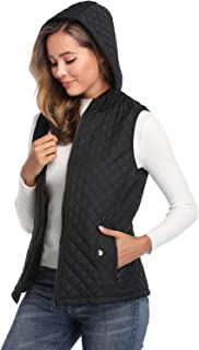 miss moly Women Lightweight Quilted Padded Vest Stand Collar Zip Up Front Gilet Quilted
