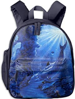 Cute Dolphin Tattoos Backpack Purse Back to School Backpacks for children Bookbags for School