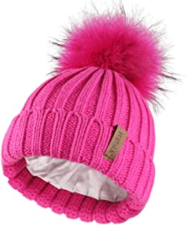 Kids Winter Faux Fur Pom Pom Hat Toddler Boys Girls Kids...