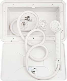 Dura Faucet DF-SA170-WT RV Exterior Shower Box Kit with Lock (White)