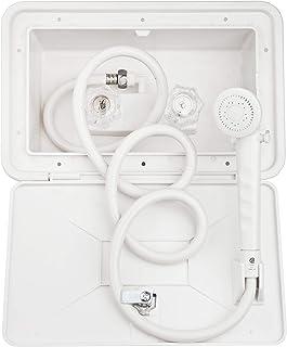 Dura Faucet DF-SA170-WT RV Exterior Shower Box Kit with Lock (White)