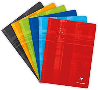 Clairefontaine 3371C Staple Bound Notebooks, A4+, Séyès, 90 g, 60 Sheets - Assorted Colours, Pack of 1