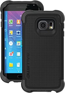 Ballistic Tough Jacket Series Case for Samsung Galaxy S6 EDGE Model SM-G925 - Black - Not for Samsung Galaxy S6 Model SM-G920