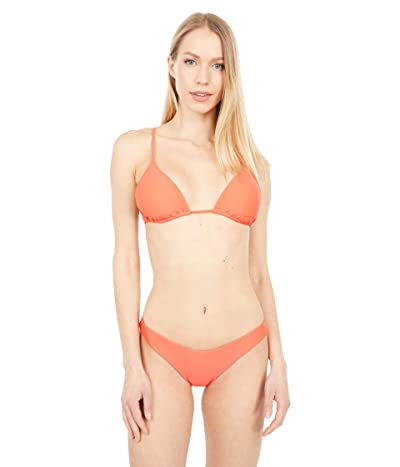 Volcom Simply Solid Triangle Top (Electric Coral) Women